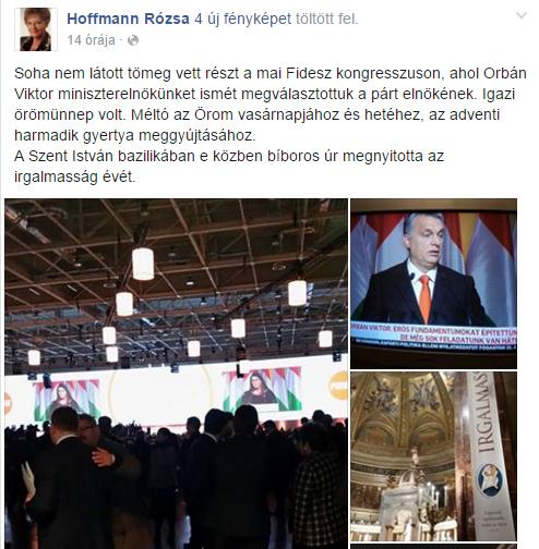 Hoffmann Rózsa/Facebook