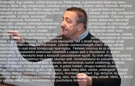 Bayer Zsolt, a konzervatív magyar újságírás egyszemélyben (fotó: blog.atlatszo.hu)