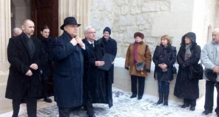 Orbán Viktor, a háttérben Orbán Gáspár (fotó: voceatransilvaniei.ro)