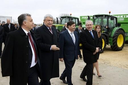 Orbán, Csányi, Mészáros, Fazekas (MTI Fotó: Koszticsák Szilárd)