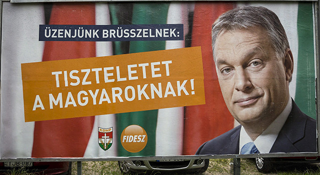Budapest, 2014. május 16. A Fidesz európai parlamenti választási plakátja Budapesten, a III. kerületi Lajos utcában 2014. május 15-én. MTI Fotó: Mohai Balázs