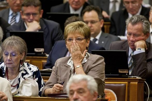 Hoffmann Rózsa, a polgári kormány legtehetségesebb köznevelési államtitkára. Vagy valami. (Forrás: MTI / Szigetváry Zsolt)