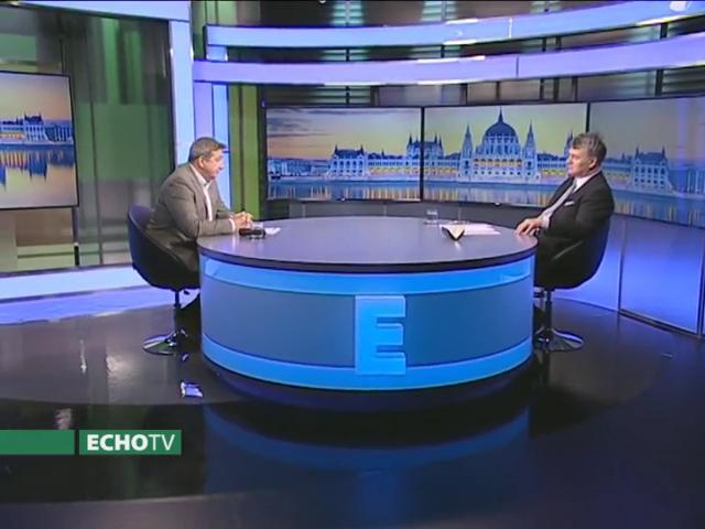 Két mélymagyar összeborult Matolcsy gazdasági zsenialitása fölött: Bayer Zsolt, a népnemzeti oldal golyóstolla és Lentner Csaba, MNB alapítványi kurátor és küldetéstudatos hívő (Fotó: via Echo Tv)