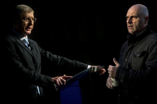 Legyőzöttek: Gyurcsány Ferenc (DK) és Tóbiás József (MSZP) pártelnökök (Fotó forrása: MTI/Origo)