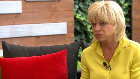 Gór Nagy Mária, nyelvbotlásos népszerű magyar színésznő a TV2 Mokka műsorában (Fotó: TV2)