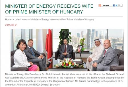A Tiborcz-Orbán duó Bahrein energiügyi miniszterével tárgyal tavaly szeptemberben