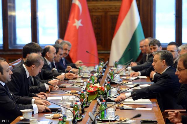 Erdogan budapesti látogatása 2013-ban (Fotó: MTI/Kovács Tamás)