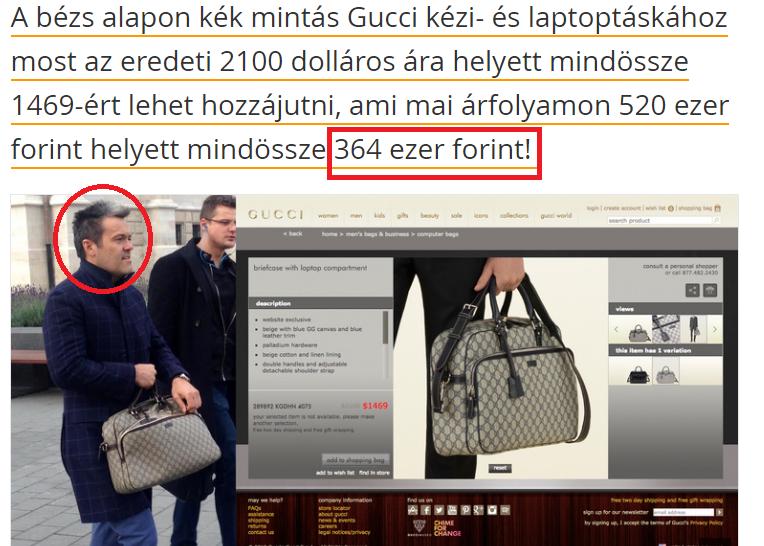 Olcsó Gucci táska munkanélkülieknek (via Index)