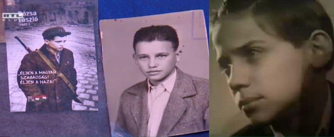 Balra az '56-os Pesti srác, középen Pruck Pál fiatalkorában, jobbra Dózsa László 1955-ben (Forrás: RTL Híradó)