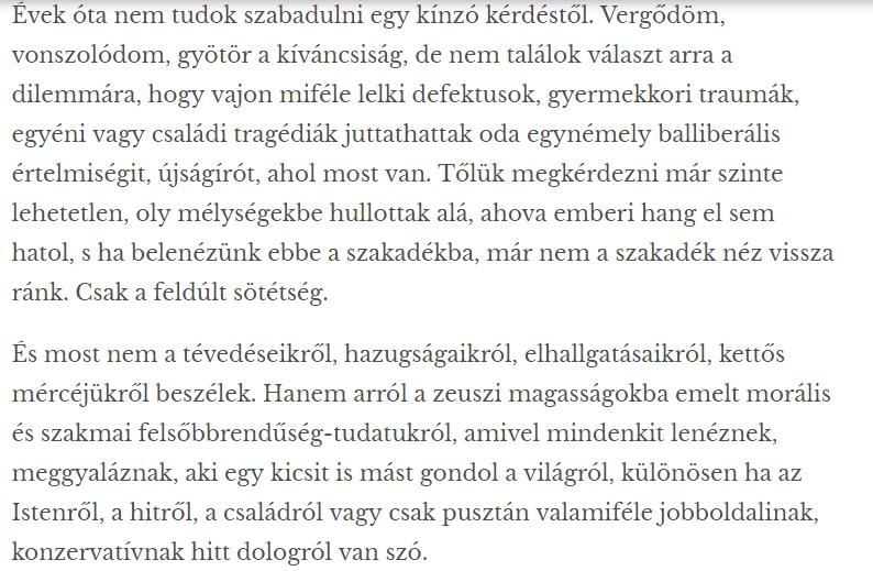 Néző László remekbeszabott tipródása, amiben elindította a pátosszal vegyülő hazugság-láncot, ami végigsöpör a barnanyalvű médián