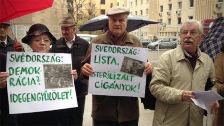 A fejfedő nélküli úr Szilvásy György honfoglaló és elnök (Fotó: 444. hu)