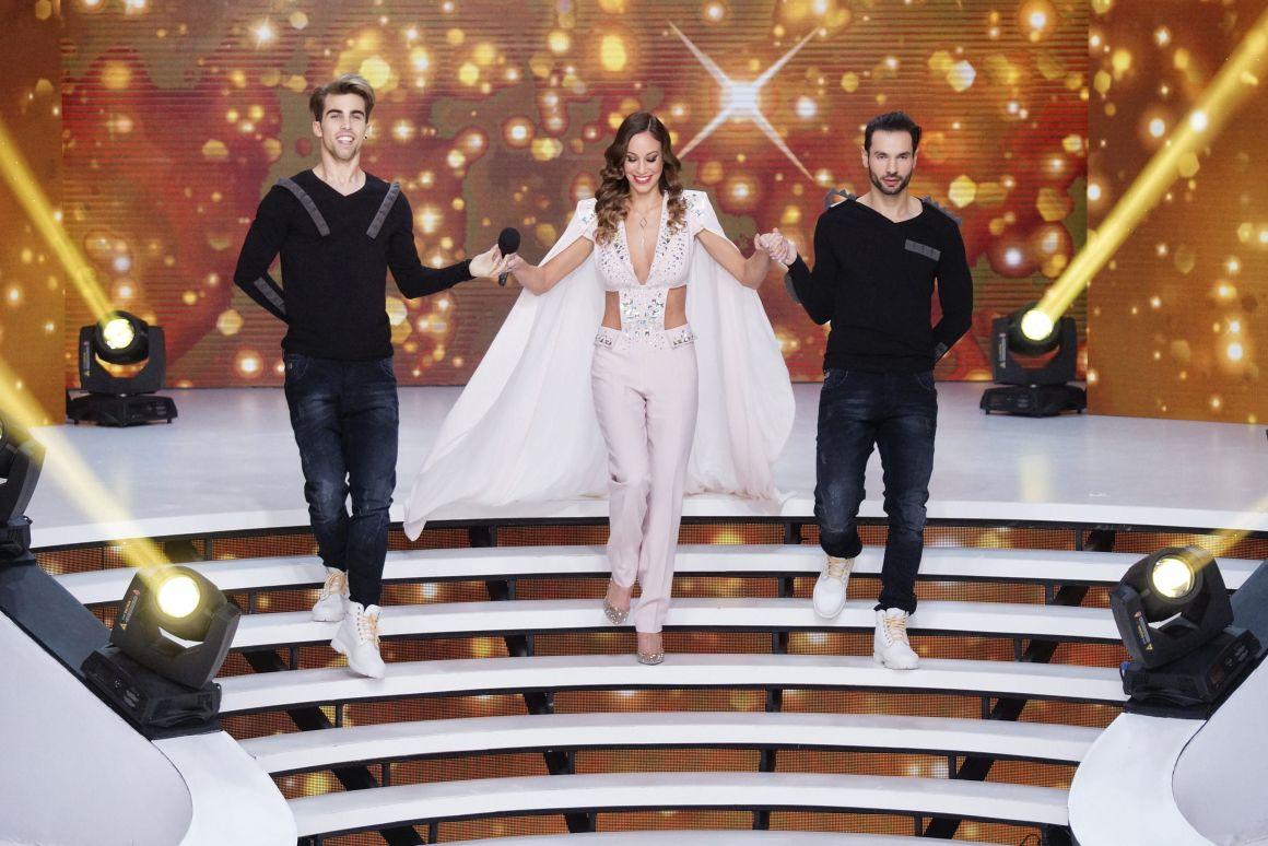 Vajna Tímea (33), a szépségverseny tulajdonos-producere a Miss Universe Hungary döntőjének közvetítése előtt a TV2 stúdiójában (Fotó: Balogh Zoltán/MTI)