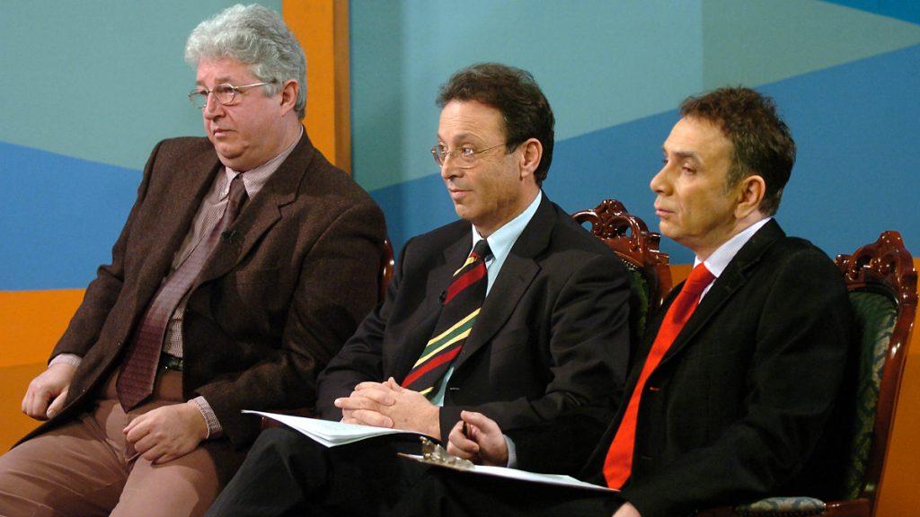 Balról: Pallagi Ferenc, Betlen János és Orosz József a Napkeltében (Fotó: MTI-archív)
