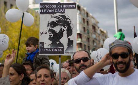 Tüntetés Granadában Fotó: Lázár Gergő