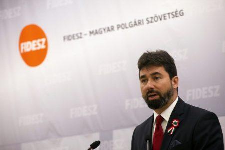 A Fidesz arcátlan kommunikációs igazgatója, Hidvéghi Balázs (Fotó: MTI/Kallos Bea)