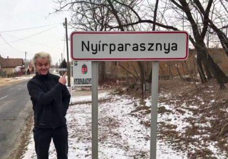 Geert Wilders, holland szélsőséges politikus felesége szülőfalujában (Fotó: Twitter)