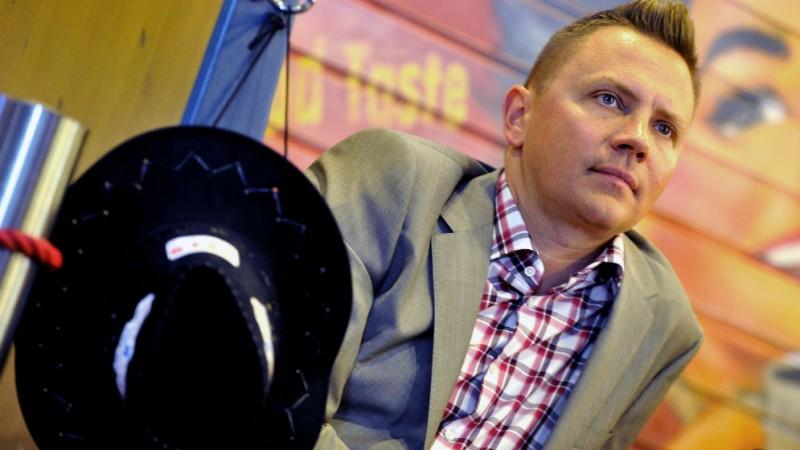 Gönczi Gábor, a Tények nevű, híradónak álcázott emészthetetlen moslék-műsor egyik arca (Fotó: MTI/Illyés Tibor)