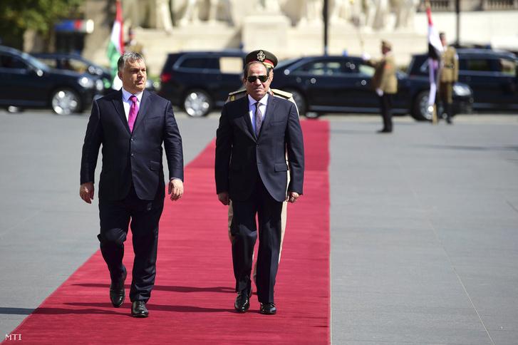 A miniszterek elnöke és Egyiptom elnöke (Fotó: Balogh Zoltán / MTI)