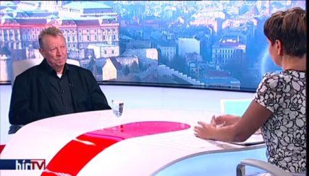 Beer Miklós váci megyés püspök Kálmán Olga Egyenesen című műsorában