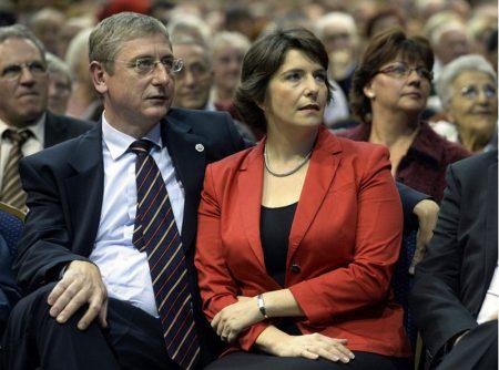 Gyurcsány Ferenc és felesége, Dobrev Klára (Fotó: MTI)
