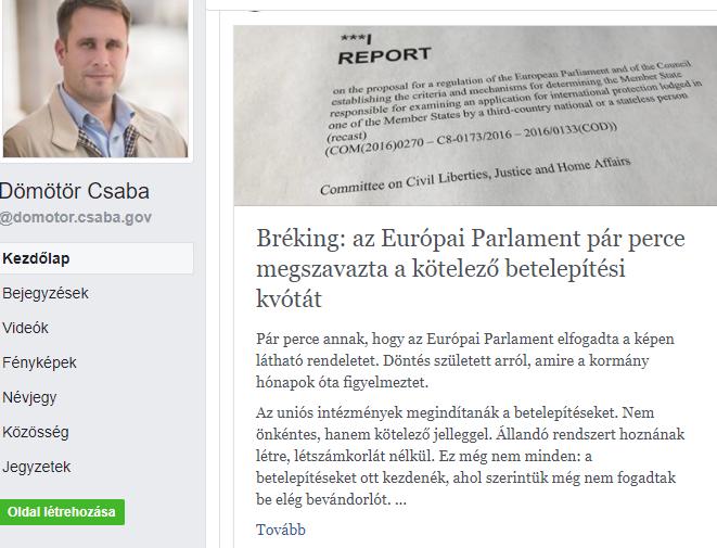 Dömötör Csaba/Facebook