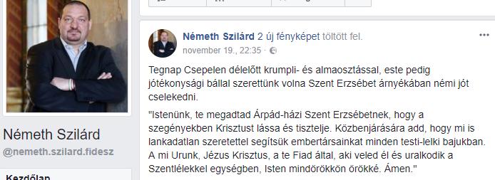 Németh Szilárd/Facebook