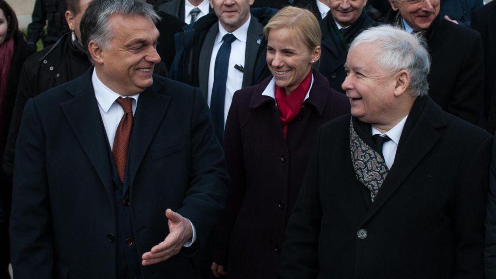 Orbán és eszmetársa a pusztításban, Jarosław Kaczyński (Fotó forrása: Fakt.pl)