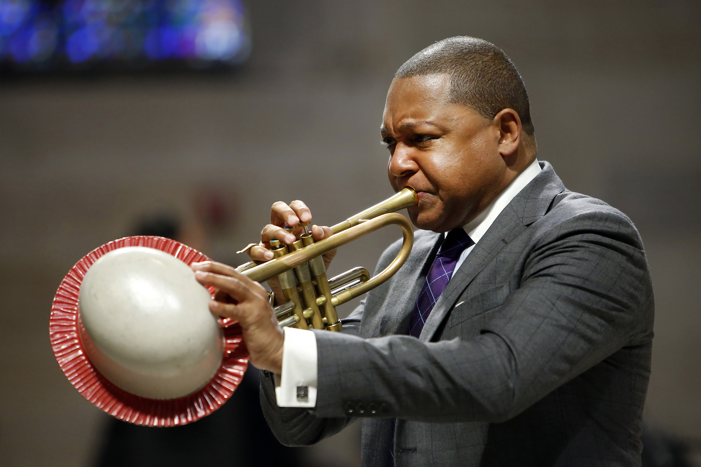 2014: Wynton Marsalis performs during a memorial service for actress Ruby Dee at The Riverside Church in New York. (AP Photo/Jason DeCrow, File)