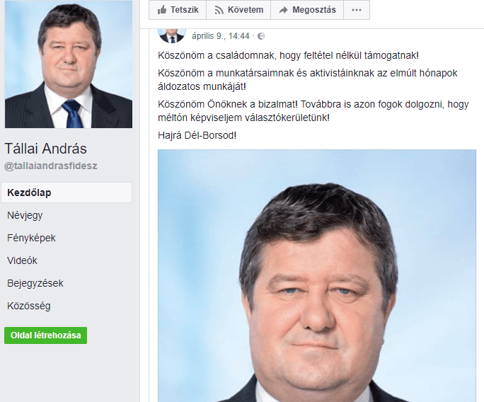 Tállai András/Facebook