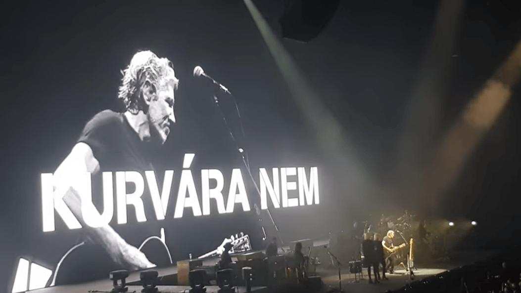 Pink Floyd, Roger Waters, Budapest, Papp László Sportaréna, 2018. május 2. (Fotó: Youtube)